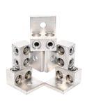 Abstract design of rectangular metal detail Stock Image