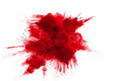 Abstract design of red powder cloud. Against white background Stock Photos