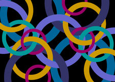 Abstract design with rings. Stock Photo