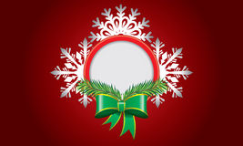 Abstract design with snowflake and space for text Royalty Free Stock Images
