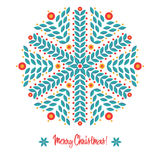 Abstract design with snowflakes Stock Image