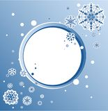 Abstract design with snowflakes and space for text royalty free illustration
