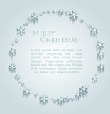 Abstract design with snowflakes and space for text. This is file of EPS10 format royalty free illustration