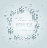 Abstract design with snowflakes and space for text. This is file of EPS10 format stock illustration