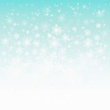 Abstract design with snowflakes Stock Photography