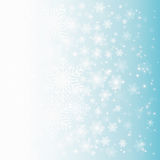 Abstract design with snowflakes. Abstract winter Christmas background with snowflakes and place for text stock illustration