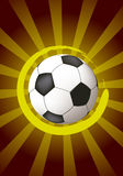 Abstract design with soccer ball Royalty Free Stock Photo