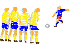 Abstract design soccer Stock Photography