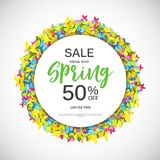 Abstract Design Spring Sale Banner Template. Vector Illustration Stock Images