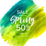Abstract Design Spring Sale Banner Template. Vector Illustration Stock Photo