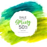 Abstract Design Spring Sale Banner Template. Vector Illustration Stock Photography