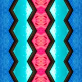 abstract design with stained glass in aquamarine, red and blue colors, background and texture vector illustration