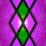 Abstract design with stained glass in green and pink colors, background and texture. Backdrop for colors related ads, geometric pattern with reflection effect royalty free illustration