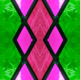 Abstract design with stained glass in green, pink and red colors, background and texture. Backdrop for colors related ads, geometric pattern with reflection royalty free illustration