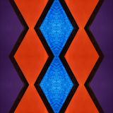 Abstract design with stained glass in purple, red and blue colors, material for decoration of windows, background and texture. Backdrop for colors related ads vector illustration