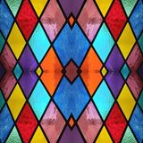Abstract design with stained glass in various colors, material for decoration of windows, background and texture. Backdrop for colors related ads, geometric royalty free illustration