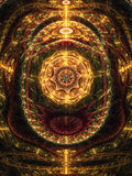 Abstract design of steampunk clockwork Royalty Free Stock Images