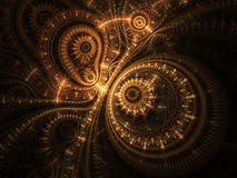 Abstract design of steampunk watch Royalty Free Stock Photography