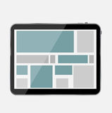 Abstract Design Tablet. Vector Illustration. Royalty Free Stock Photo