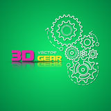 Abstract design template background with gears Royalty Free Stock Photo