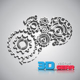 Abstract design template background with gears Royalty Free Stock Photos