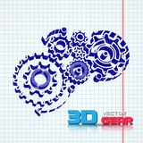 Abstract design template background with gears Stock Images