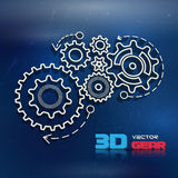 Abstract design template background with gears Stock Photos
