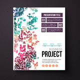 Abstract design template for a business project Royalty Free Stock Photos