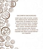 Abstract design template with decorative circles. Hand drawn illustration. This is file of EPS10 format Stock Photography