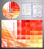 Abstract design template for dvd label and box-cov Royalty Free Stock Photo