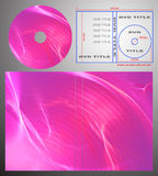 Abstract design template for dvd label and box-cov Royalty Free Stock Photography