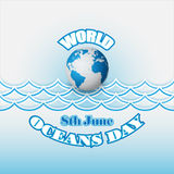 Abstract, design, template for World Oceans day, celebration Stock Photo