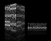 Abstract design and typography background Stock Photo