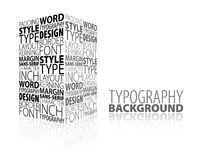 Abstract design and typography background Stock Photography