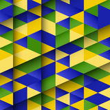 Abstract design using Brazil flag colours Stock Images