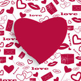 Abstract design  Valentine's Day Royalty Free Stock Image
