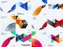 Abstract design of colourful vector elements for smooth background with round shapes for business branding summer. Abstract design of vector elements for Royalty Free Stock Images