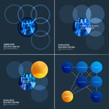 Abstract design of colourful vector elements for smooth background with round shapes rinds for business partnership. Abstract design of vector elements for Royalty Free Stock Image