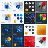 Abstract design of colourful vector elements for smooth background with round shapes rinds for business partnership. Abstract design of vector elements for Stock Image