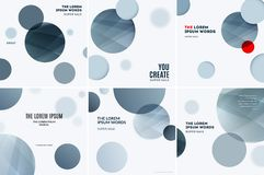 Abstract design of colourful vector elements for modern background with grey soft rounds for business branding print. Abstract design of vector elements for stock illustration
