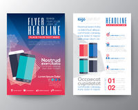 Abstract design vector template layout for magazine brochure Stock Photography