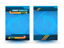 Abstract design vector template layout for magazine Royalty Free Stock Photos