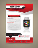 Abstract design vector template layout with smart watch Stock Image