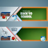 Abstract  design web banners, headers for education, background Royalty Free Stock Photo
