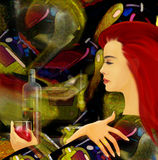 Abstract design, wine card Royalty Free Stock Images