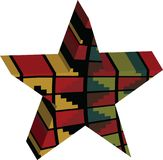 Abstract designed colorful star 3D Royalty Free Stock Images