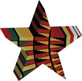 Abstract designed colorful star 3D Royalty Free Stock Photos