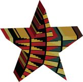 Abstract designed colorful star 3D Stock Photos