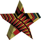 Abstract designed colorful star 3D Royalty Free Stock Photo
