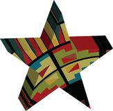 Abstract designed colorful star 3D Stock Images